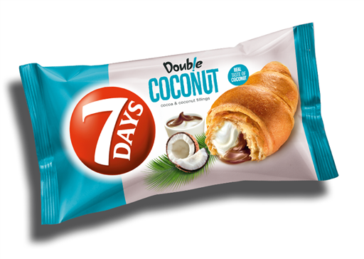 7 DAY DOUBLE COCONUT & COCOA CROISSANT(20x80G)