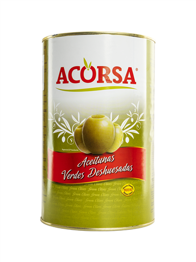 ACORSA GREEN OLIVES PITTED(3x4.1KG)