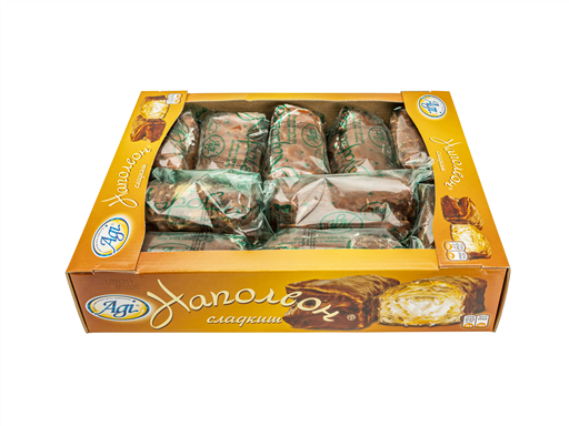 AGI NAPOLEON PASTRY WITH COCOA COATING(10x90G)