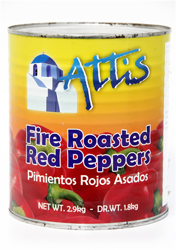 ATTIS RED ROASTED PEPPERS A10(6x4.2KG(2.9NET))