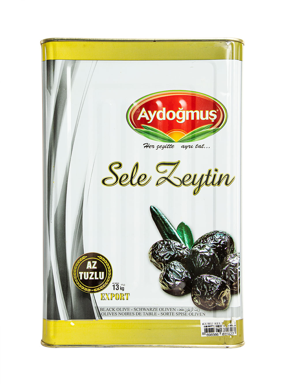 AYDOGMUS BLACK OLIVES LOW SALT SELE 381-460