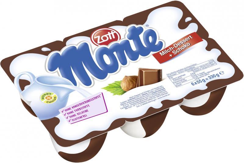 DAIRY ZOTT MONTE CHOCO&HAZELNUT